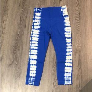 Athleta Bright Tie-Dye Blue Capri